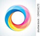 abstract infinite loop sign... | Shutterstock .eps vector #134116172