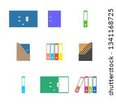 flat office icons  set of... | Shutterstock .eps vector #1341168725