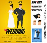 funny glossy movie poster... | Shutterstock .eps vector #134117276