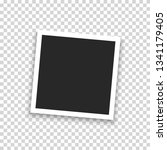 realistic photo polaroid frame... | Shutterstock .eps vector #1341179405