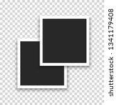 realistic photo polaroid frame... | Shutterstock .eps vector #1341179408