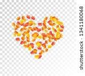 maple leaves vector  autumn... | Shutterstock .eps vector #1341180068