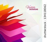colorful background with book... | Shutterstock .eps vector #134118062