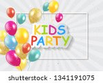 kids party holiday background... | Shutterstock .eps vector #1341191075