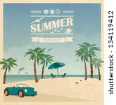 summer color background in... | Shutterstock .eps vector #134119412