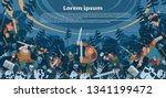 a battle between the... | Shutterstock .eps vector #1341199472