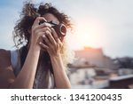 outdoor summer smiling... | Shutterstock . vector #1341200435