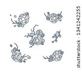 vector floral collection with... | Shutterstock .eps vector #1341242255