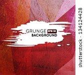 grunge vine triangular... | Shutterstock .eps vector #134124428