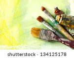 Vintage Artists Brushes And...