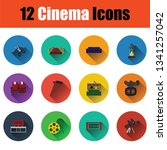 set of cinema icons. full color ... | Shutterstock .eps vector #1341257042