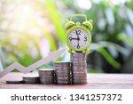 money coins saving set increase ... | Shutterstock . vector #1341257372