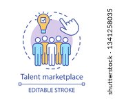 talent marketplace concept icon.... | Shutterstock .eps vector #1341258035
