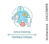 active listening concept icon.... | Shutterstock .eps vector #1341258098