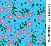 seamless vector floral pattern. ... | Shutterstock .eps vector #1341262088