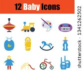 set of baby icons. stencil... | Shutterstock .eps vector #1341262502