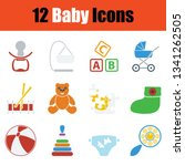 set of baby icons. stencil... | Shutterstock .eps vector #1341262505