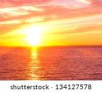 Bright Horizon Setting Sun