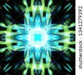 light mandala. symmetry and... | Shutterstock . vector #1341279392