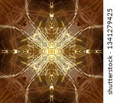 light mandala. symmetry and... | Shutterstock . vector #1341279425