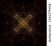 light mandala. symmetry and... | Shutterstock . vector #1341279428