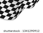 finish race flag with copyspace | Shutterstock .eps vector #1341290912