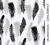 seamless pattern with graphic... | Shutterstock .eps vector #1341308915