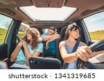 boring people in car. long road ... | Shutterstock . vector #1341319685