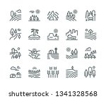 landscape line icons. nature... | Shutterstock .eps vector #1341328568