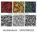 6 animal skin seamless patterns.... | Shutterstock .eps vector #1341348122