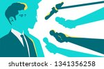 man in a suit interview.... | Shutterstock .eps vector #1341356258