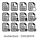 cv   curriculum vitae  resume...   Shutterstock .eps vector #134136476