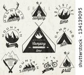 retro vintage style symbols for ... | Shutterstock .eps vector #134139095