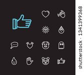 emoji icons. set of character... | Shutterstock .eps vector #1341399368