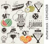 retro vintage style restaurant... | Shutterstock .eps vector #134140268