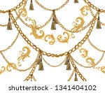 hand drawn baroque striped... | Shutterstock .eps vector #1341404102