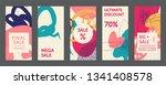 editable instagram stories...   Shutterstock .eps vector #1341408578