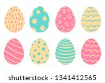 set of bright colorful easter...   Shutterstock .eps vector #1341412565