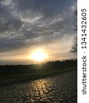 sundown with street | Shutterstock . vector #1341432605