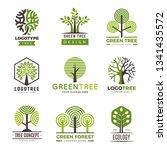 tree logotypes. eco green...   Shutterstock .eps vector #1341435572