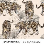 seamless pattern with a... | Shutterstock .eps vector #1341443102