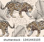 seamless pattern with a... | Shutterstock .eps vector #1341443105