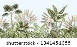 tropical vintage botanical...   Shutterstock .eps vector #1341451355