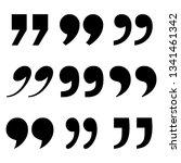 set of quote mark  black sign... | Shutterstock .eps vector #1341461342