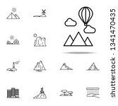 mountains and balloon icon.... | Shutterstock .eps vector #1341470435