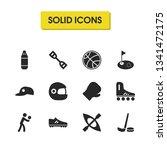 activity icons set with hockey...