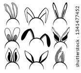 sketch set of the ears of the... | Shutterstock .eps vector #1341477452