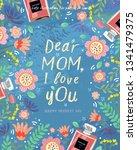 happy mother's day  vector ... | Shutterstock .eps vector #1341479375