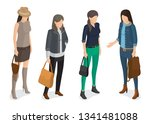 women collection of models in... | Shutterstock . vector #1341481088