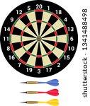 Stock vector darts isolated dartboard and dartsmith 1341488498